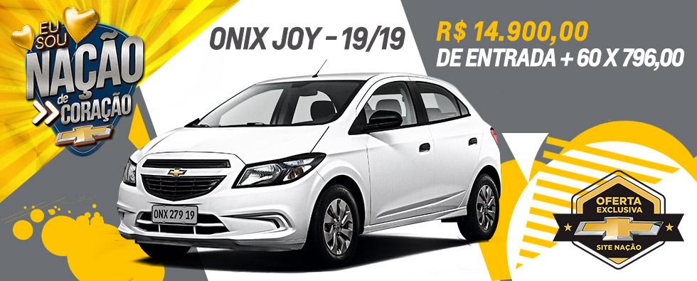 Onix Joy Oferta Abril Nação Chevrolet
