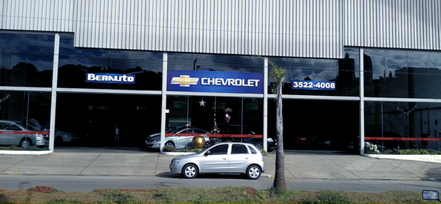 Fachada concessionária Chevrolet  Berauto Itapeva