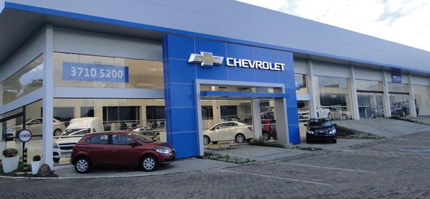 Fachada concessionária Chevrolet  J.A. Spohr