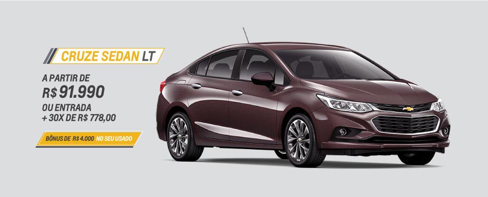 Cruze Sedan LT a partir de R$ 91.990