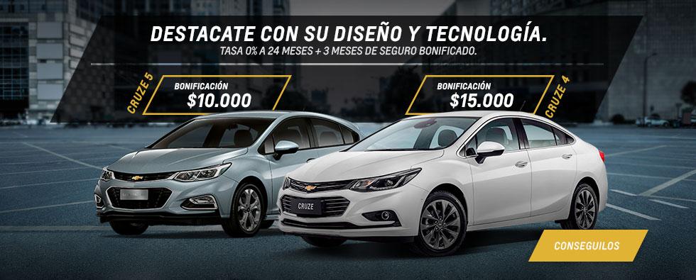 Oferta Cruze 4 y 5 Chevrolet Deliauto