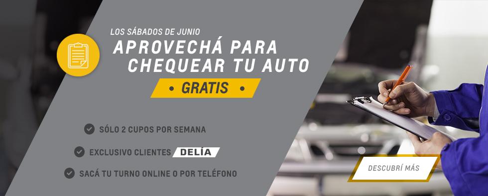 Chequeo gratis en talleres de Chevrolet Delía