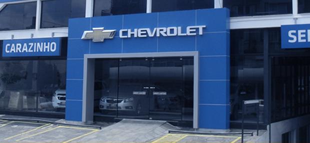 Fachada concessionária Chevrolet Carazinho Frederico Westphalen/RS história e entre contato