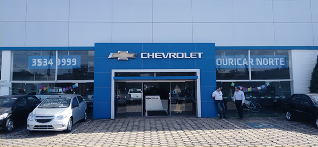 Fachada concessionária Chevrolet Ouricar Santo Antônio da Platina