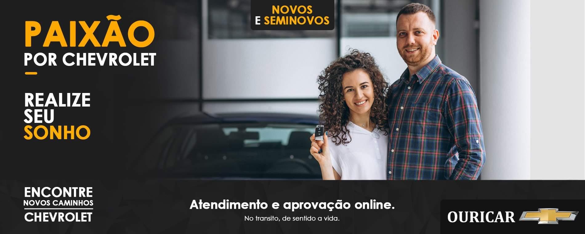 A Chevrolet Ouricar realiza o seu sonho de comprar um carro. Conheça os nossos modelos.