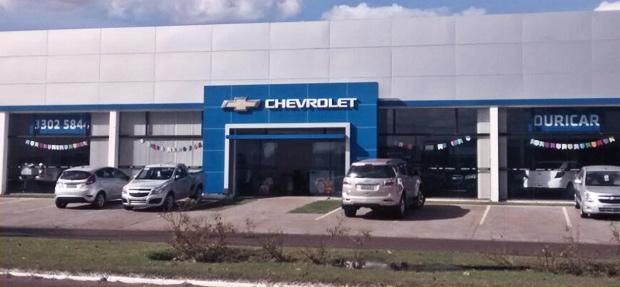 Fachada concessionária Chevrolet Ouricar de Ourinhos