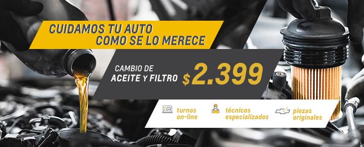 Cambio de aceite y filtro en Concesionario Oficial Chevrolet