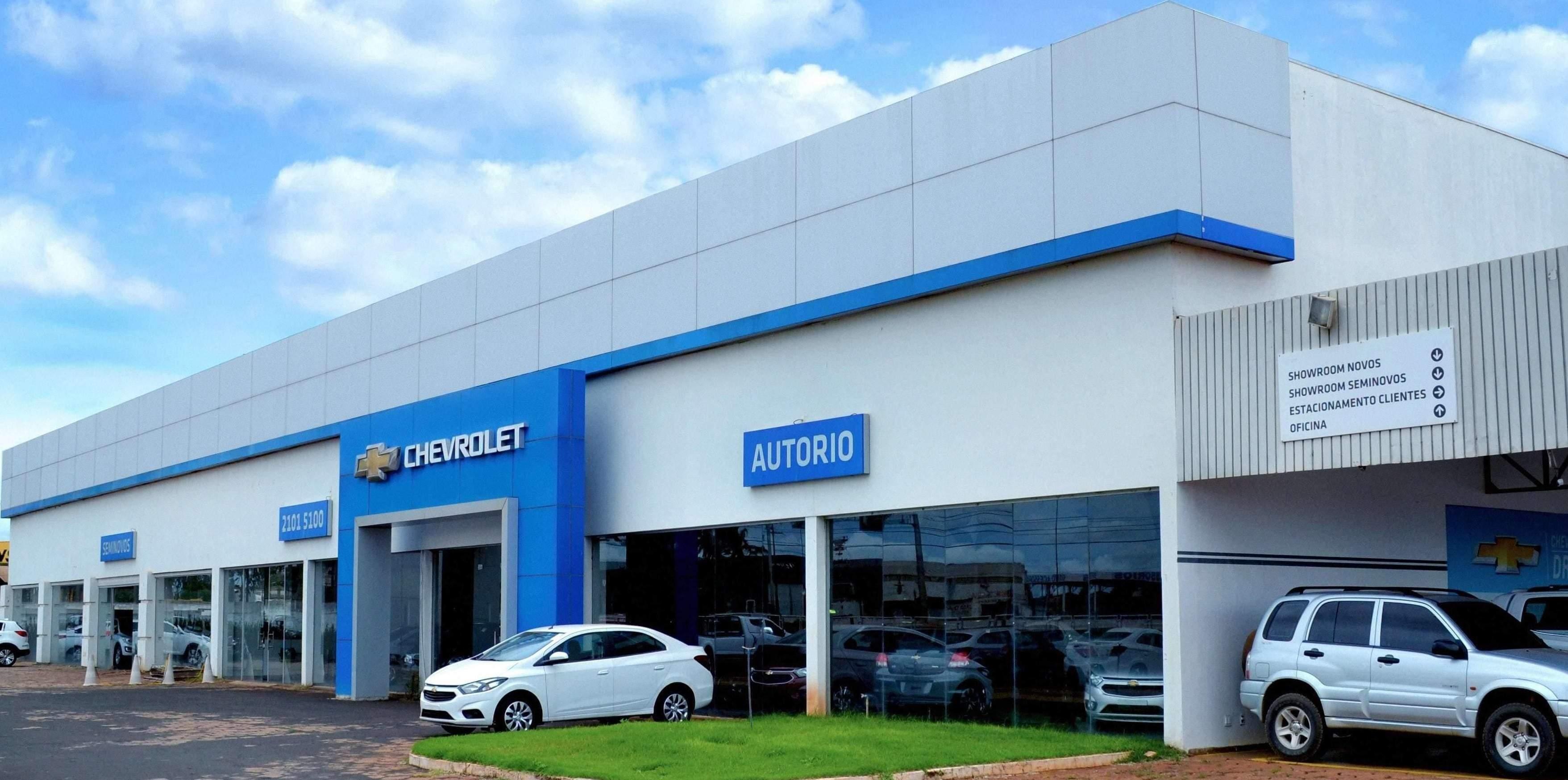 Fachada concessionária Chevrolet Autorio Rio Verde.