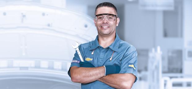 Serviços de manutenção e reparo para revisão de carros na concessionária Chevrolet Autorio