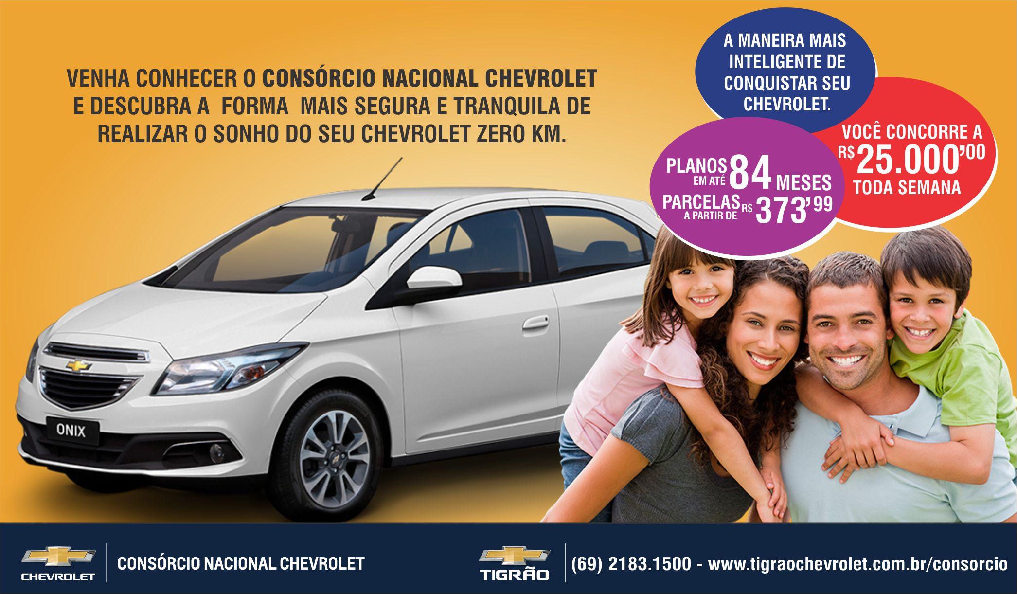 Comprar carro novo ou trocar seminovo consórcio de carros concessionária Chevrolet Tigrão