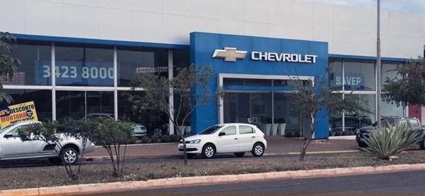 Fachada concessionária Chevrolet Bavep