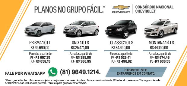 Comprar carro novo ou trocar seminovo consórcio de carros na concessionária Chevrolet Autonunes