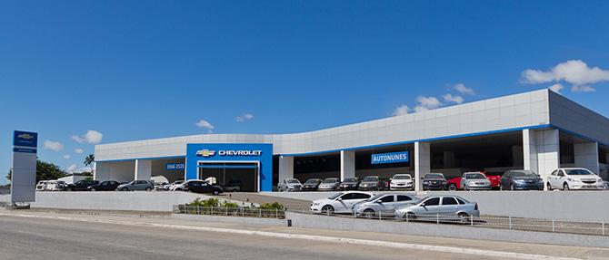 Fachada concessionária Chevrolet Autonunes