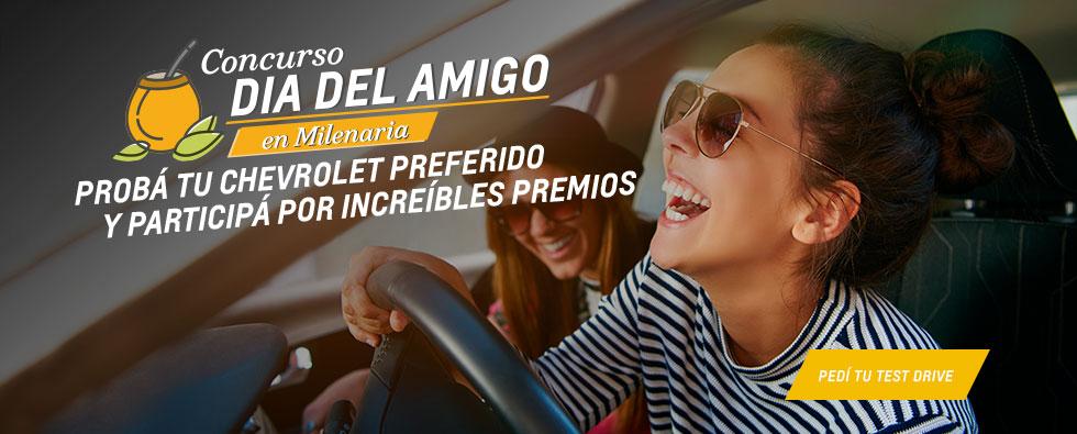 Probá tu próximo Chevrolet con el Test Drive que ofrece Milenaria y participá del concurso.