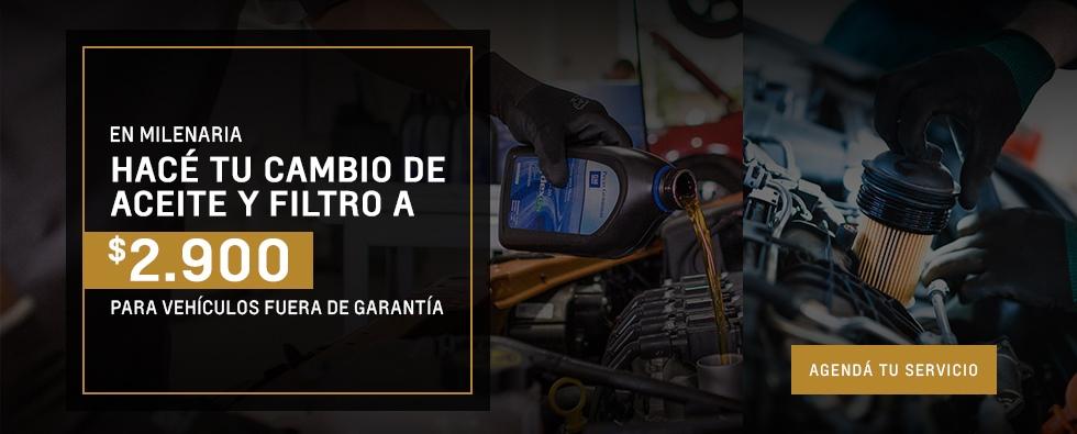 Cambio de aceite y filtro en Milenaria Taller Oficial Chevrolet