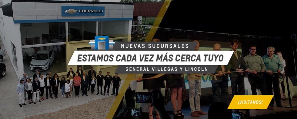 Nuevo Concesionario Oficial Chevrolet en Lincoln y General Villegas