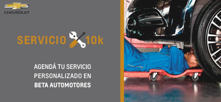 Servicio 10K en Beta Chevrolet
