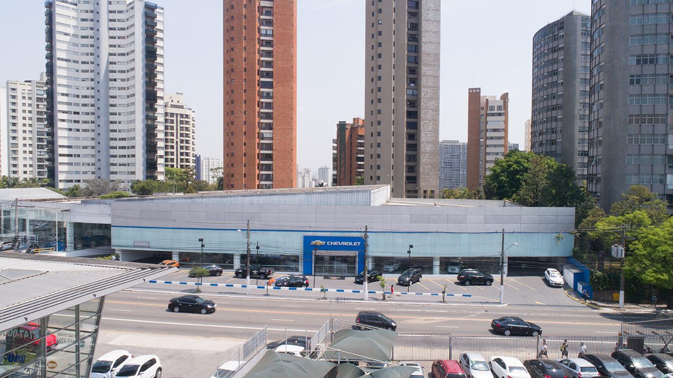 Fachada concessionária Chevrolet Viamar Morumbi