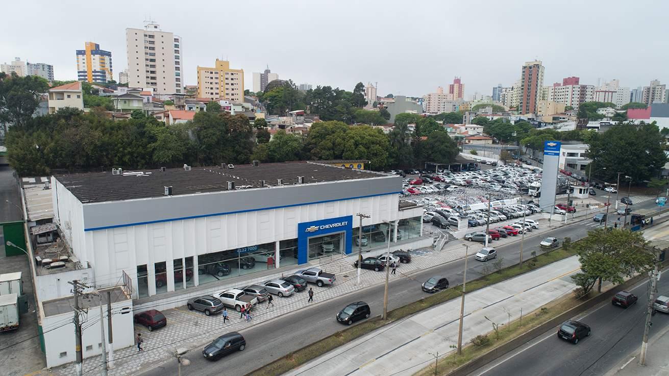 Fachada concessionária Chevrolet Viamar São Bernardo do Campo.