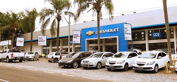 Fachada concessionária Chevrolet CCV Tarumã