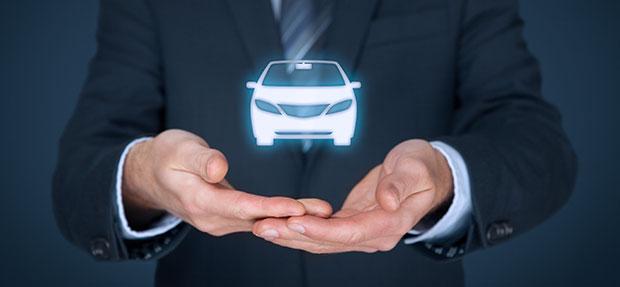 Carro com o Seguro Auto concessionária Chevrolet Javep