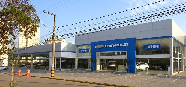 Fachada concessionária Chevrolet Luchini
