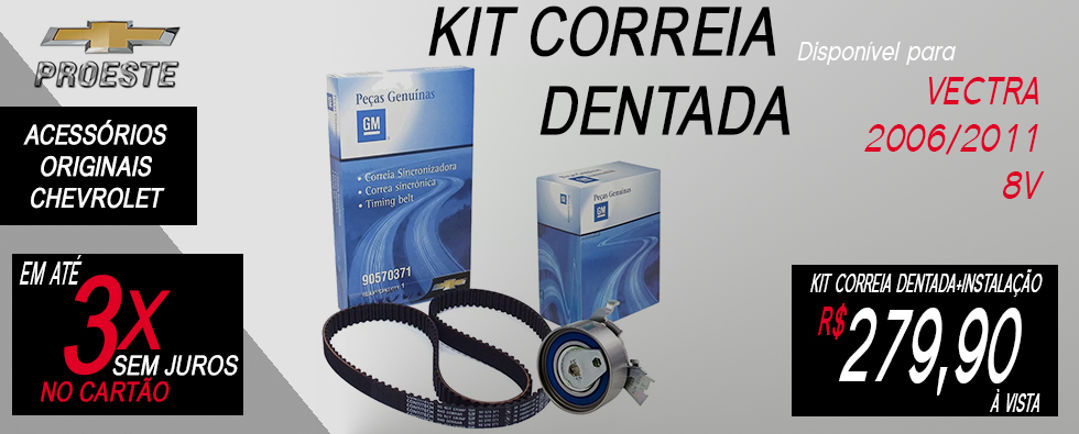 kit correia dentada 90570371