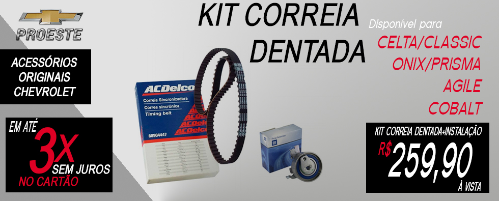 KIT correia dentada 88904447