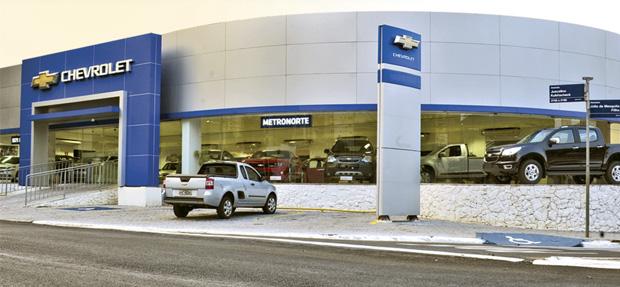 Fachada concessionária Chevrolet JK Londrina PR.