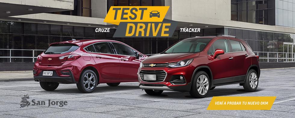 Chevrolet Test Drive Tracker y Cruze 5 en Automóviles San Jorge