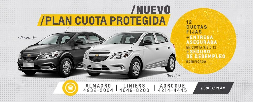 Nuevo Plan de Ahorro Chevrolet Cuota Protegida en San Jorge Liniers y Adrogué