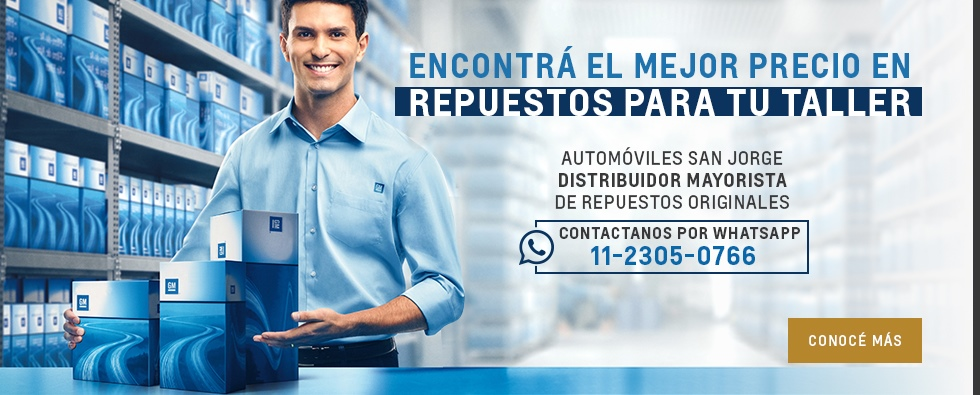 Encontrá el mejor precio en repuesto en Chevrolet San Jorge