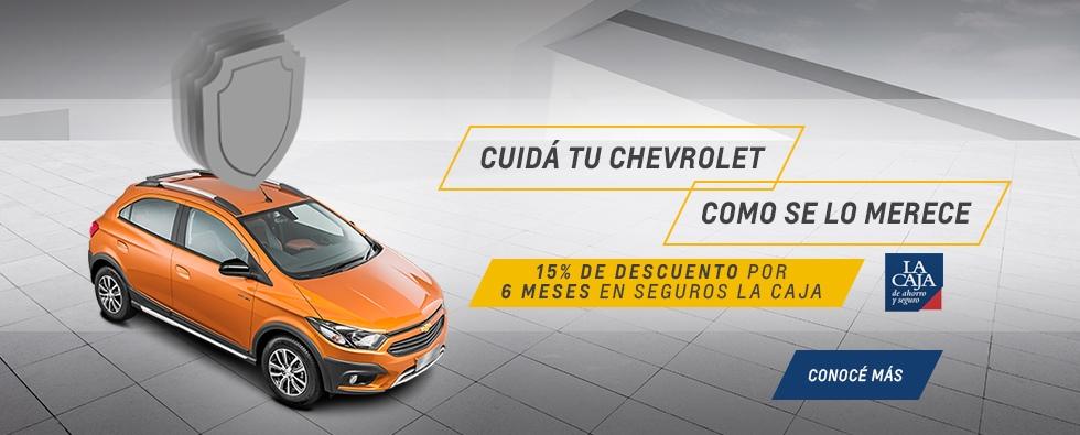 Cuidá tu Chevrolet con el descuento en seguros La Caja que ofrece San Jorge