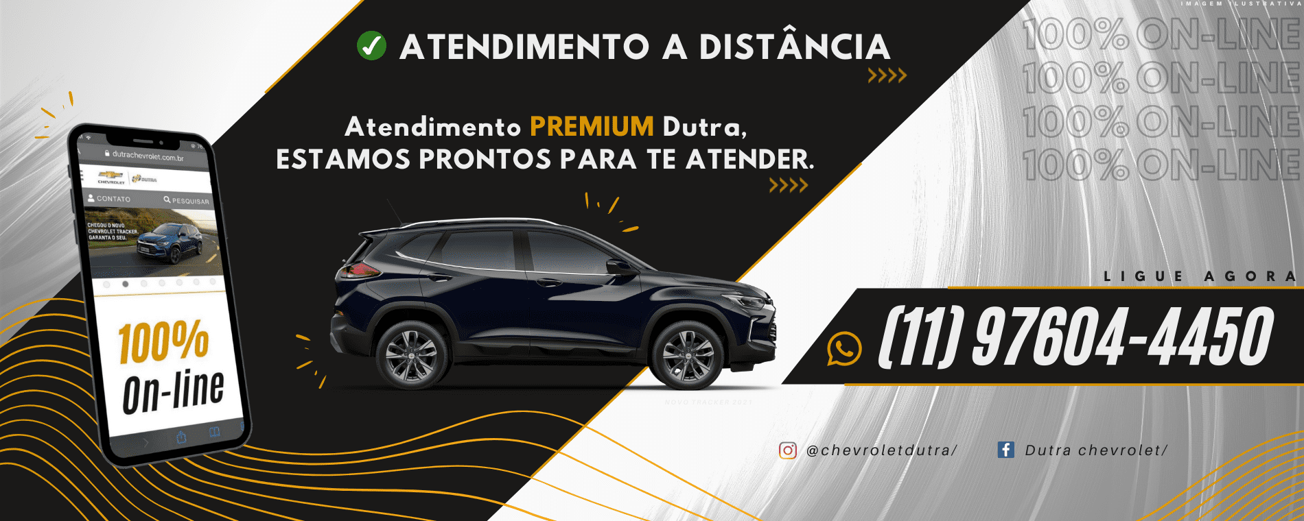 A Chevrolet Dutra está com atendimento 100% online. Entre em contato conosco!