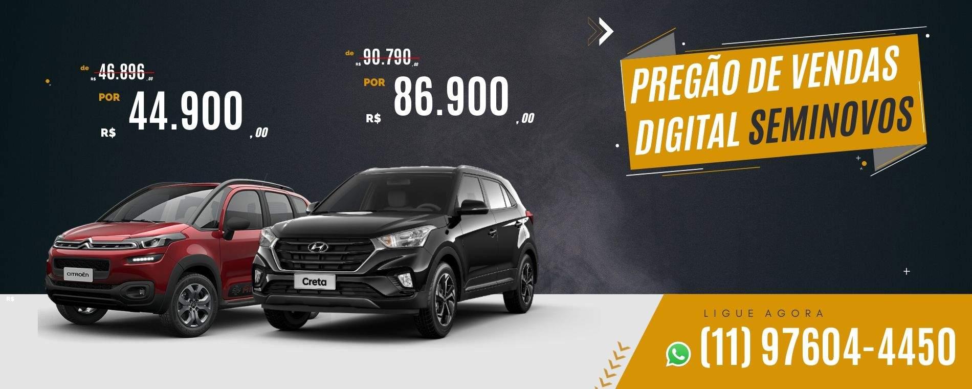 Pregão de vendas digital da concessionária Dutra