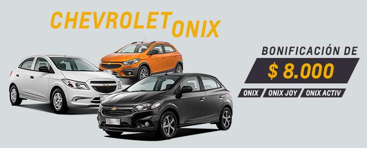 Oferta en Chevrolet Onix, Onix Activ y Onix Joy