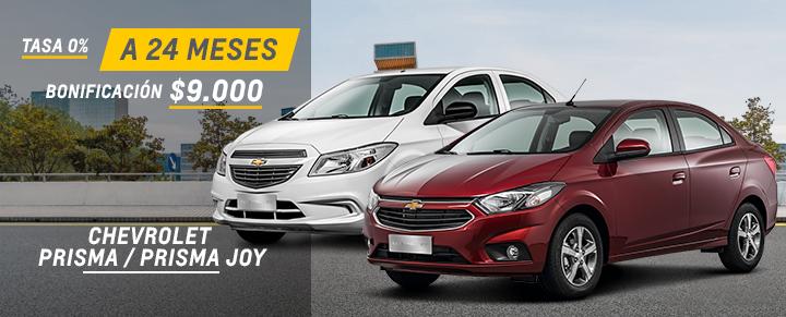Oferta en Chevrolet Prisma y Prisma Joy
