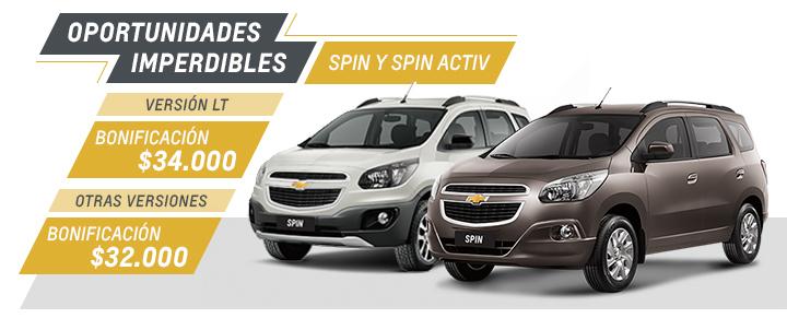 Chevrolet Spin y Spin Activ - Oferta nacional Septiembre