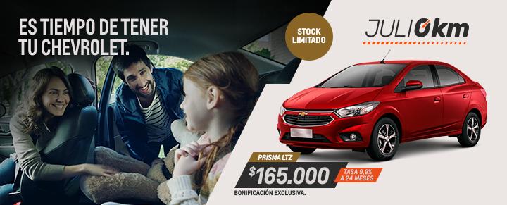 Oportunidad en Chevrolet Prisma - Julio 0km