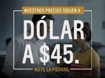 Dolar a precio $45