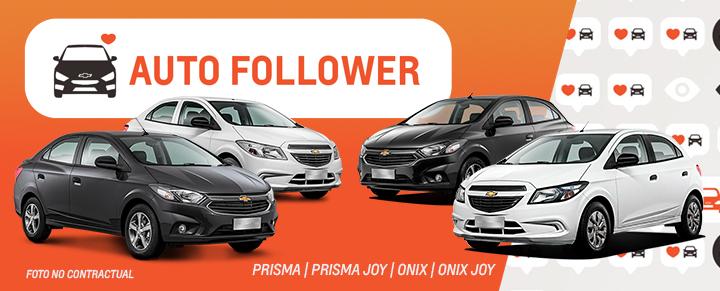 Auto Follower Chevrolet Onix y Prisma