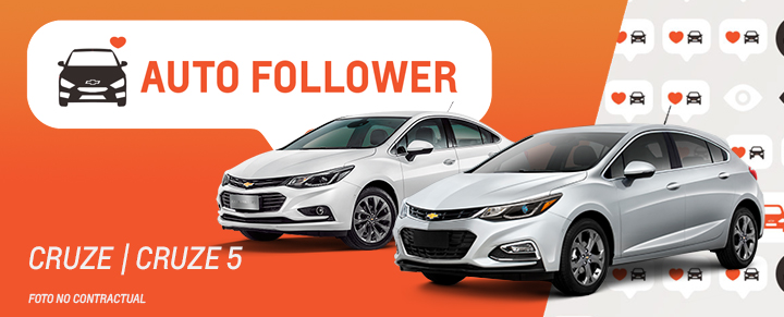 Auto Follower Chevrolet Cruze y Cruze 5