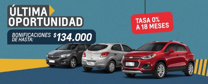 Liquidación de Stock Chevrolet