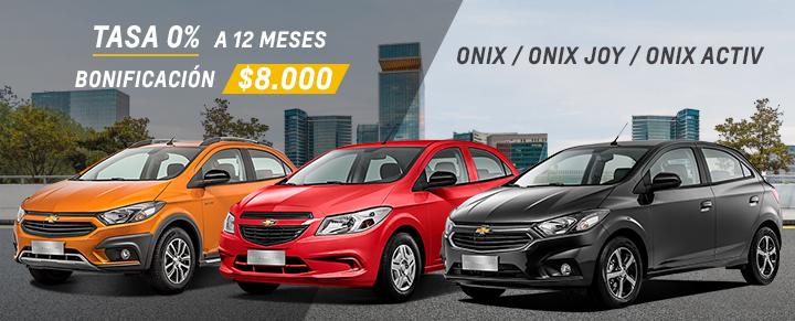 Oferta de Chevrolet Onix y Onix Joy
