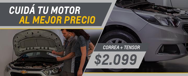 Correa + Tensor para Agile, Classic, Celta, Onix y Prisma - Repuestos Chevrolet