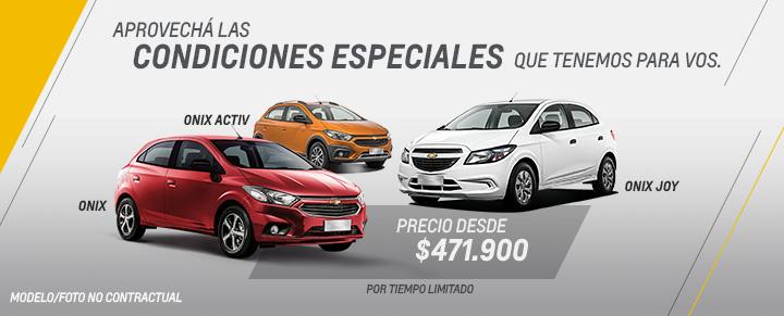 Condiciones especiales en Chevrolet Onix