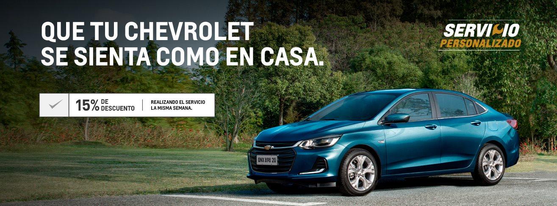 Servicio Personalizado Postventa Chevrolet . Concesionario Oficial