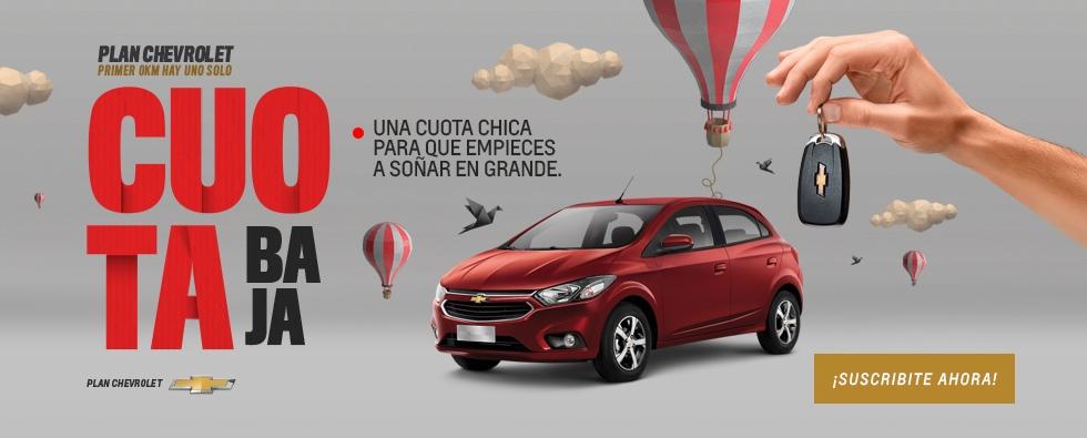 Chevrolet Plan Cuota Baja sin precio