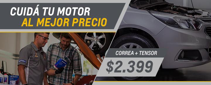 Correa + Tensor para Spin, Cobalt y Corsa II - Repuestos Chevrolet
