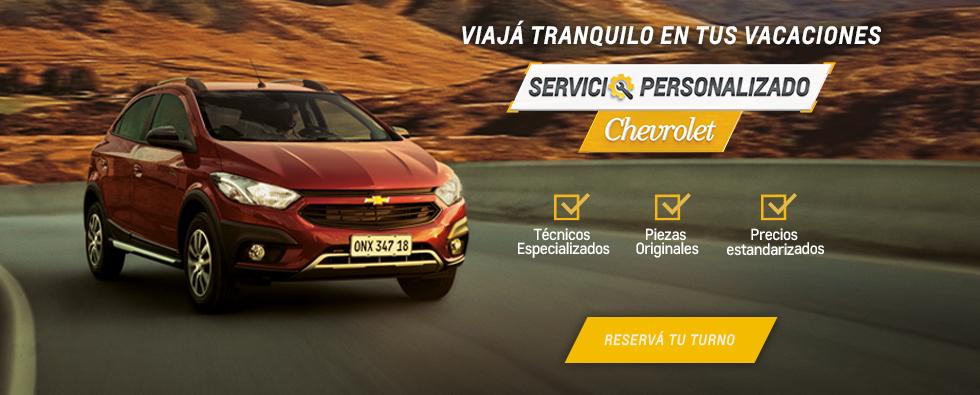 Servicio Personalizado Chevrolet Pre-Vacacional